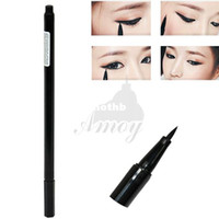Cheap Wholesale-FREE SHIPPING New Design Waterproof Liquid Eyeliner Pen Make up Eye Liner Pencil Black 6546