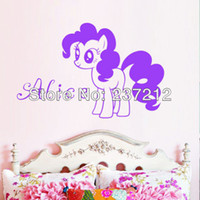 Wholesale Personalised Vinyl Cute My Little Pony Pinkie Pie and Name Wall Decal Girls Room