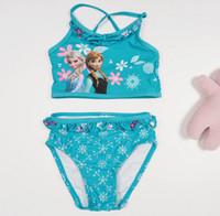 Wholesale Baby swimwear cotton Frozen elsa Swimwear Frozen One piece summer swimsuit for girls xm2