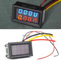 Wholesale 3PCS DC V V Led Volt Amp Meter Voltage Meter Current Meter Ampere Panel Meter Voltmeter Ammeter Digital TK1212
