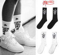 Men Sock Athletic New Fashion High Quality SSUR Fuck you pay me cotton long Socks Men Elite Knee High Summer Sport Socks Stockings for Women