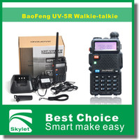 Wholesale BaoFeng Walkie Talkie UV R BF UV5R W CH UHF VHF DTMF Two Way Radio A0850A