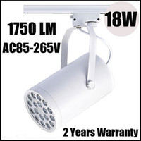 Wholesale Hot sale Ultra Bright Cree W Led Track Rail Light Led Tracking Lamp Spotlight Warm Cool White AC85 V Lumens