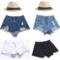 Cheap new 2014 for women high waist short jeans calca vintage denim shorts female plus size Ripped women's shorts Hole a shorts women