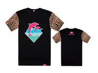 Wholesale pink dolphin t shirts clothes men fashion short sleeve t shirts name brand Floral Leopard mens clothing summer