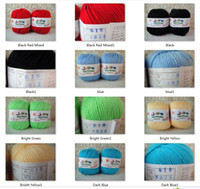 Cheap 4*50g Skeins Wool Cashmere Silk Baby Yarn lot Sock Sport Weight 200g with Red, Yellow, Green, Orange, Black, Purple White etc.