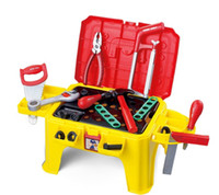 Wholesale Plastic Toys Kids Multifunction Tool Box Tool Chair Baby Simulation Pretend Play Baby Toys Gift for Boy Set