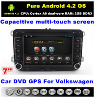 volkswagen car pc - 7 quot Android Car PC Car DVD for VW Tiguan Caddy Touran SKODA SEAT POLO Golf Golf With CPU Cortex A9 dual core GHz RAM GB DDR3