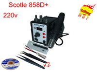 Cheap 220v Scotle 858D+ Soldering Manchine Desoldering Tool Hot Air soldering station with solder tool kit