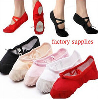 Wholesale Womens Comfortable Breathable Canvas Soft Ballet Dance Shoes Suitable For Adult