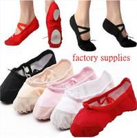 adult ballet flats - Womens Comfortable Breathable Canvas Soft Ballet Dance Shoes Suitable For Adult
