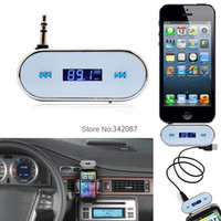 Wholesale 2014 New sale mm White Car Wireless FM Transmitter For iPhone S C S for iPod for Samsung Galaxy S4 MP3 TK1418