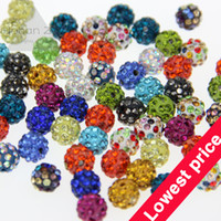 Wholesale Promotional MM CZ Clay Disco Ball Pave Crystal charm Shamballa beads bracelets making supplies bijouterie jewelry DIY
