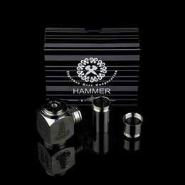 Wholesale Hammer Pipe Mod Kit E cig Mechanical Stainless Steel E pipe fit for Battery Electronic Cigarettes Kits DHL free