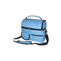 Wholesale insulated cooler bagpicnic lunch bag box two compartments Double layer thickening ice pack diaper ice bag