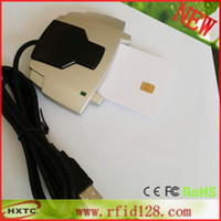 Wholesale Freeshipping ACR38U SPC Smart IC Card Reader amp Writer USB Full Speed with FM4442 Chip Cards CD Software