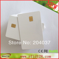 Wholesale 20PCS Printable Contact PVC Blank Smart IC Card With FM Sle4442 Chip For Epson Canon Inkjet Printer