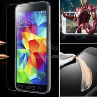 al por mayor el protector de la pantalla del ipad-Nueva venta caliente 1pc HD ultra fina de vidrio templado transparente protector de la pantalla cubierta de la película para Samsung Galaxy S5 / i9600 B11 SV004064
