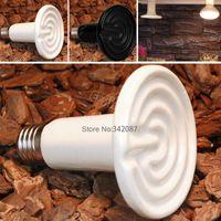 Wholesale 220v W w Flat type Ceramic heat lamp infrared bulb Pet heat lamp light Reptile pet amphibian poultry B2 CB018956