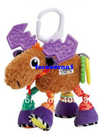 Cheap David's deer 30pcs 10.2'' 26cm super cute multifunctional Pere antelope brown lamaze bed hang bell baby toys
