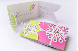 Wholesale high quality folding paper business card printing service