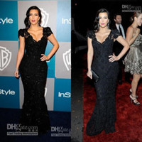 Cheap Good Design New Fashion Kim Kardashian Sexiest Black Lace Celebrity Dress CBD059