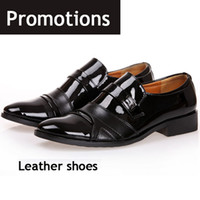 Cheap 2014 Promotions Boutique British mens leather dress shoes black business popular fashion trends men shoes WL-14 free shipping