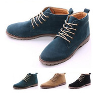 Cheap Fashion British Mens Casual Lace Suede Ankle Boots Loafers Shoes Sneakers