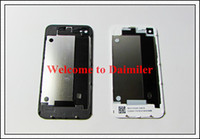 Wholesale Back Glass Battery Housing Door Cover Replacement Part GSM for iphone S Black White Color DHL