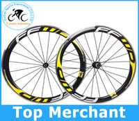 bicycle brake - Alloy brake surface FFWD wheels F5R mm wheelset full carbon road bicycle bike wheels black yellow Novatec hubs with free gifts
