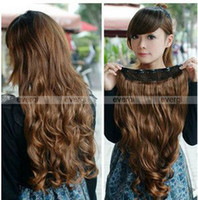 Wholesale One Piece Long Curl Curly Wavy Hair Extension Clip On