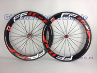 Wholesale FFWD wheels F6R mm wheelset straight pull hubs carbon hubs full carbon road bicycle bike wheels black red Novatec hubs with free gifts