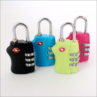 Wholesale TSA338 Resettable Digit Combination Padlock Suitcase Travel Lock TSA locks Luggage Padlock