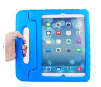 Wholesale 2014 EVA Foam innoxious material Children Kids Shockproof Protection Protective Case Cover for iPad and iPAD AIR Portable case cute