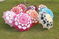 wedding umbrella - Lace Parasols Bridal Wedding Umbrella Handmade Diameter Assorted Colors Available Straight Sunshade New Arrival Elegant Umbrellas