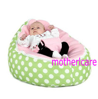 Wholesale 2 Top covers NEW Baby Toddler Kids Portable Bean Bag Seat baby beanbag chair green berry pink
