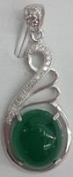 Wholesale jewelry pure Silver Chalcedony pendant silver and jade Called Yusui in Chinese Just like a beauty ladies fashion