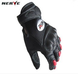 2015 new arrival summer mesh NERVE motorcycle gloves motorbike off-road breathable genuine leather racing gloves moto racing gloves S M L XL