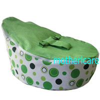 Wholesale 2 Top covers NEW Baby Toddler Kids Portable Bean Bag Seat baby beanbag chair solid green circle