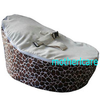 baby beanbags - 2 Top covers NEW Baby Toddler Kids Portable Bean Bag Seat baby beanbag chair giraffe cream