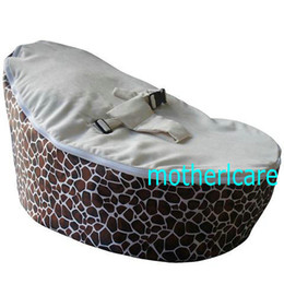 Wholesale 2 Top covers NEW Baby Toddler Kids Portable Bean Bag Seat baby beanbag chair giraffe cream