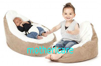 Wholesale 2 Top covers NEW Baby Toddler Kids Portable Bean Bag Seat baby beanbag chair brown cream top