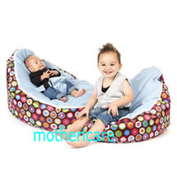 Wholesale 2 Top covers NEW Baby Toddler Kids Portable Bean Bag Seat baby beanbag chair blue in beds
