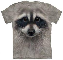 M L XL XXL (YNM)2014 Factory hot fashion women men Cartoon RACCOON FACE print funny 3d t-shirts space Galaxy t-shirts tops tees