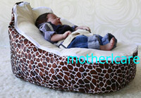 Wholesale 2 Top covers NEW Baby Toddler Kids Portable Bean Bag Seat baby beanbag chair chocolate giraffe