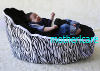Wholesale 2 Top covers NEW Baby Toddler Kids Portable Bean Bag Seat baby beanbag chair black zebra