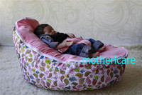 Wholesale 2 Top covers NEW Baby Toddler Kids Portable Bean Bag Seat baby beanbag chair girls pink birdie nest
