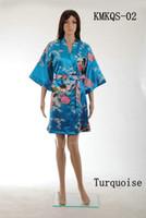 short kimono - Short Style Satin Kimono Robe Beach Summer Robe Bathrobe Unique Women Clothing