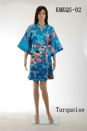 Wholesale Short Style Satin Kimono Robe Beach Summer Robe Bathrobe Unique Women Clothing