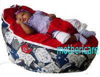 Wholesale 2 Top covers NEW Baby Toddler Kids Portable Bean Bag Seat baby beanbag chair sporty red